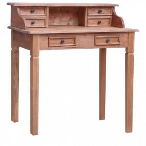 Birou de scris cu sertare, 90x50x101 cm, lemn masiv reciclat - V283912V