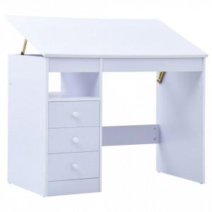 Birou de studiu & desenat pentru copii rabatabil, alb - V287448V