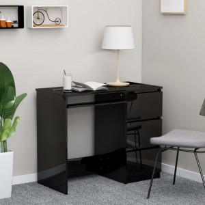 Birou, negru extralucios, 90 x 45 x 76 cm, PAL - V801380V