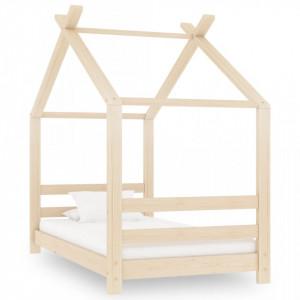 Cadru pat de copii, 70 x 140 cm, lemn masiv de pin - V289607V