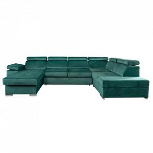 Canapea, smarald, stânga, LAMORA U