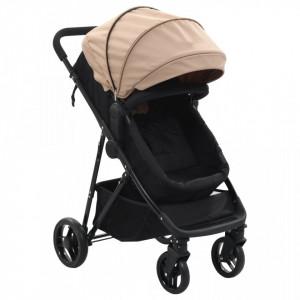 Carut/landou pentru copii 2-in-1, gri taupe si negru, otel - V10163V