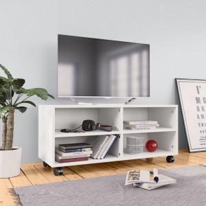 Comoda TV cu rotile, alb, 90x35x35, PAL - V800180V