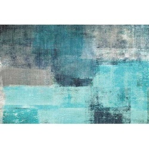 Covor 80x150 cm, albastru/gri, ESMARINA TYP 2