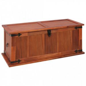 Cufar de depozitare, 90 x 45 x 40 cm, lemn masiv de salcam - V247242V
