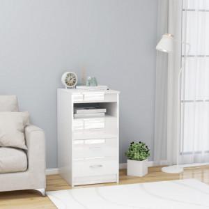 Dulap cu sertare, alb extralucios, 40 x 50 x 76 cm, PAL - V801811V