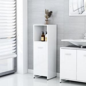 Dulap de baie, alb extralucios, 30 x 30 x 95 cm, PAL - V802594V