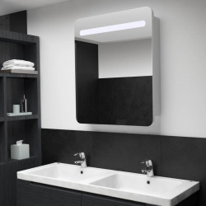 Dulap de baie cu oglinda si LED-uri, 68 x 9 x 80 cm - V285119V