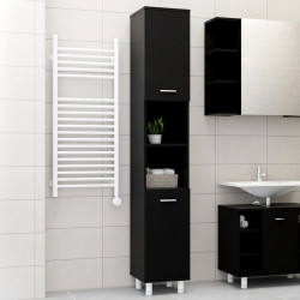 Dulap de baie, negru, 30 x 30 x 179 cm, PAL - V802625V