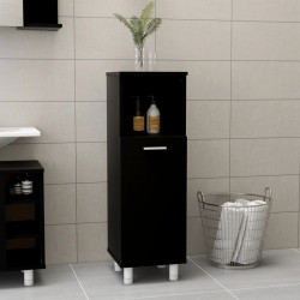 Dulap de baie, negru, 30 x 30 x 95 cm, PAL - V802616V