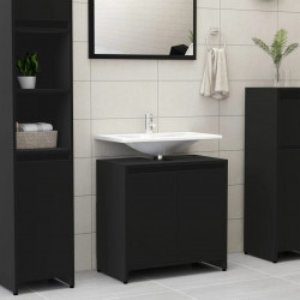 Dulap de baie, negru, 60 x 33 x 58 cm, PAL - V802643V