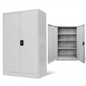 Dulap de birou din otel, 90x40x140 cm, gri - V244649V