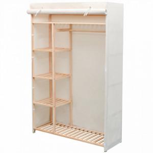 Dulap din material textil si lemn de pin 110 x 40 x 170 cm - V42976V
