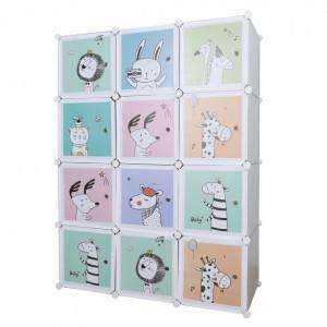 Dulap modular pentru copii, gri / model pentru copii, HAKON