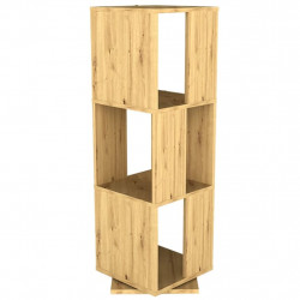 FMD Dulap rotativ de dosare deschis, stejar antichizat, 34x34x107 cm - V428798V