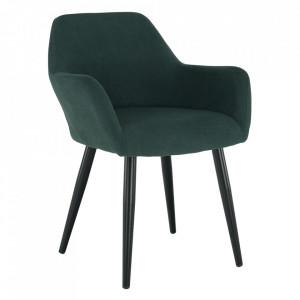 Fotoliu design, verde / negru, LACEY