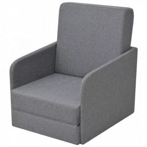 Fotoliu pat extensibil, gri deschis, material textil - V243648V