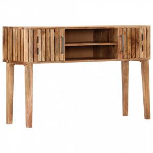 Masa consola, 120 x 35 x 76 cm, lemn masiv de acacia - V282741V