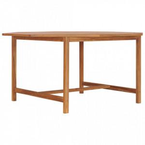 Masa de gradina, 150 x 150 x 75 cm, lemn masiv de tec - V49009V