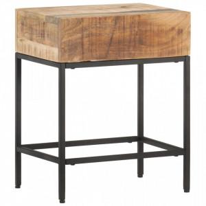 Masa laterala, 40 x 30 x 50 cm, lemn masiv de mango nefinisat - V320938V