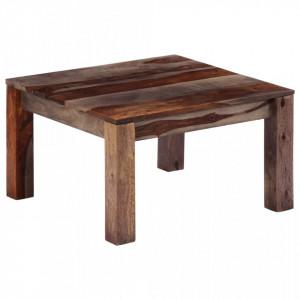 Masuta de cafea, gri, 60x60x35 cm, lemn masiv de sheesham - V247471V
