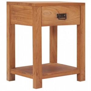 Noptiera, 35 x 35 x 50 cm, lemn masiv de tec - V287231V