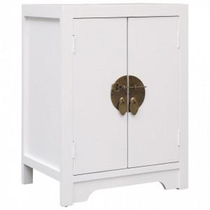 Noptiera, alb, 38 x 28 x 52 cm, lemn de paulownia - V284073V