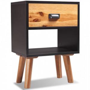 Noptiera din lemn dur de salcam 40 x 30 x 58 cm - V243176V