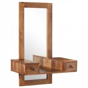 Oglinda cosmetica cu 2 sertare, lemn masiv de sheesham - V246264V