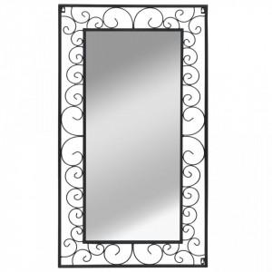 Oglinda de perete dreptunghiulara, 60x110 cm, negru - V245922V