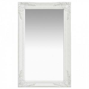 Oglinda de perete in stil baroc, alb, 50 x 80 cm - V320320V