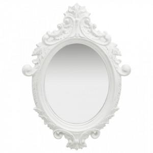 Oglinda de perete in stil Castle, alb, 56 x 76 cm - V320356V