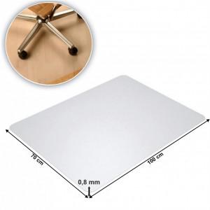 Protecţie podea sub scaun, transparent, 100x70 cm, 0,8 mm, ELLIE NEW TIP 6