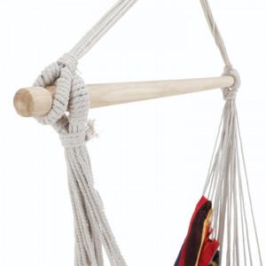 Scaun balansoar suspendabil, alb/model dungi, LINDO NEW