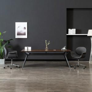 Scaun de birou pivotant, gri, material textil - V3054827V