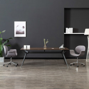 Scaun de birou pivotant, gri, material textil - V3054828V