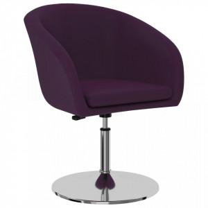 Scaun de bucatarie, violet, piele ecologica - V323174V