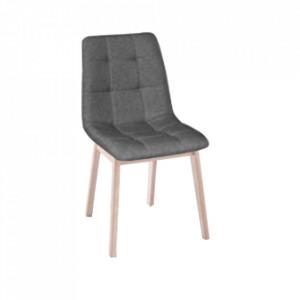 Scaun de masă, ţesătură de fag deschis / gri, GALIO