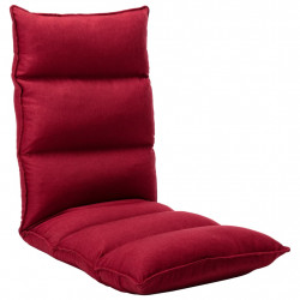 Scaun de podea pliabil, rosu vin, material textil - V325243V