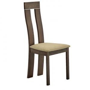 Scaun din lemn, fag merlot/Magnolia material textil maro, DESI