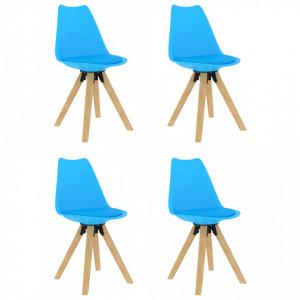 Scaune de bucatarie, 4 buc., albastru - V324236V