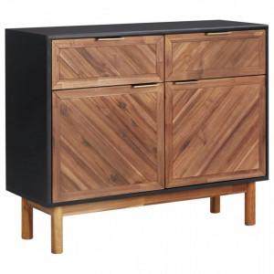 Servanta, 90 x 33,5 x 75 cm, lemn masiv de acacia si MDF - V289902V