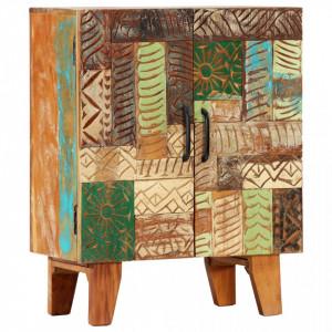 Servanta sculptata manual, 60x30x75 cm, lemn masiv reciclat - V247910V
