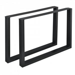 Set 2 bucati picioare masa/mobilier Model 1, 100 x 72 cm, metal, negru - P57353512