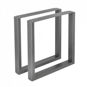 Set 2 bucati picioare masa/mobilier Model 4, 70 x 72 cm, metal, gri metal - P57353519