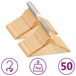 Set de umerase anti-alunecare, 50 buc. lemn esenta tare - V289912V