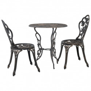 Set mobilier bistro, 3 piese, aluminiu turnat - V47858V
