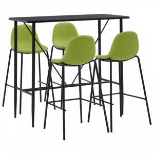 Set mobilier de bar, 5 piese, verde, material textil - V279870V
