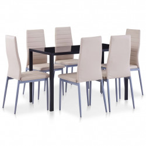 Set mobilier de bucatarie, 7 piese, cappuccino - V281702V