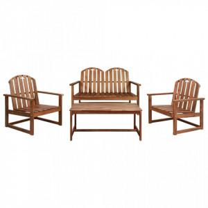Set mobilier de gradina, 4 piese, lemn masiv de acacia - V44035V